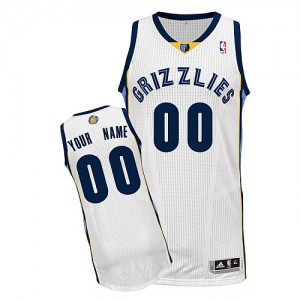Maillot Memphis Grizzlies NBA Home Blanc - Personnalisé Authentic - Enfants