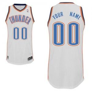 Maillot NBA Authentic Personnalisé Oklahoma City Thunder Home Blanc - Enfants