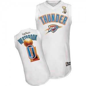 Maillot Swingman Oklahoma City Thunder NBA 2012 Finals Blanc - #0 Russell Westbrook - Homme