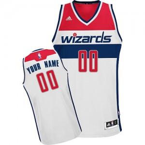 Washington Wizards Personnalisé Adidas Home Blanc Maillot d'équipe de NBA vente en ligne - Swingman pour Femme