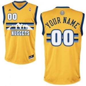 Maillot NBA Or Swingman Personnalisé Denver Nuggets Alternate Homme Adidas