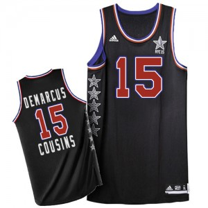 Maillot NBA Authentic DeMarcus Cousins #15 Sacramento Kings 2015 All Star Noir - Homme