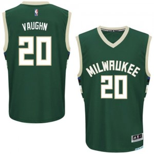 Maillot NBA Vert Rashad Vaughn #20 Milwaukee Bucks Road Authentic Homme Adidas
