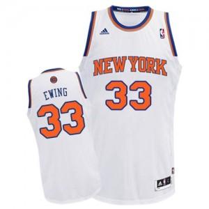 New York Knicks #33 Adidas Home Blanc Swingman Maillot d'équipe de NBA en ligne pas chers - Patrick Ewing pour Homme