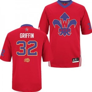 Maillot Authentic Los Angeles Clippers NBA 2014 All Star Rouge - #32 Blake Griffin - Homme