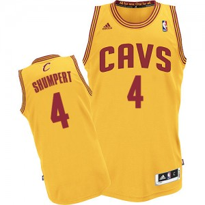 Maillot Authentic Cleveland Cavaliers NBA Alternate Or - #4 Iman Shumpert - Homme