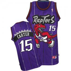 Maillot NBA Authentic Vince Carter #15 Toronto Raptors Throwback Violet - Homme