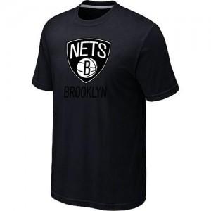 Brooklyn Nets Big & Tall Noir T-Shirts d'équipe de NBA Magasin d'usine - pour Homme