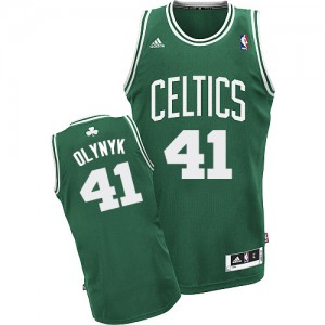 Maillot NBA Boston Celtics #41 Kelly Olynyk Vert (No Blanc) Adidas Swingman Road - Homme