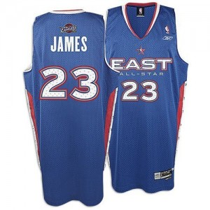 Maillot NBA Authentic LeBron James #23 Cleveland Cavaliers 2005 All Star Bleu - Homme
