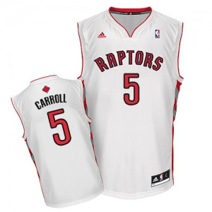 Maillot Adidas Blanc Home Swingman Toronto Raptors - DeMarre Carroll #5 - Homme
