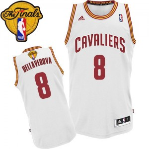 Maillot NBA Swingman Matthew Dellavedova #8 Cleveland Cavaliers Home 2015 The Finals Patch Blanc - Homme