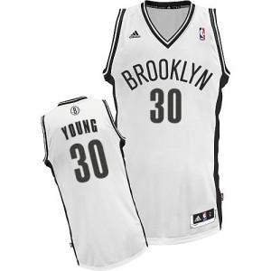 Maillot Swingman Brooklyn Nets NBA Home Blanc - #30 Thaddeus Young - Femme