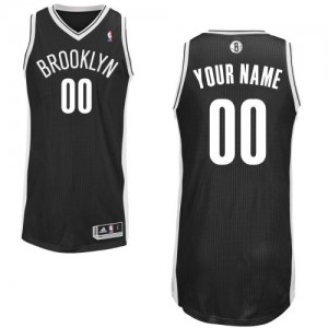Maillot NBA Authentic Personnalisé Brooklyn Nets Road Noir - Enfants