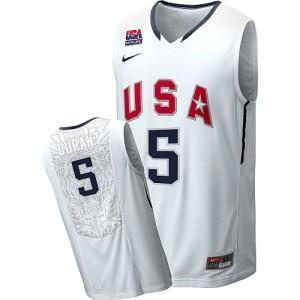 Team USA Nike Kevin Durant #5 2010 World Swingman Maillot d'équipe de NBA - Bleu marin pour Homme