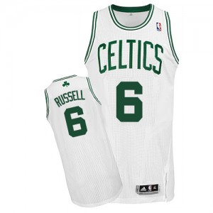 Maillot Adidas Blanc Home Authentic Boston Celtics - Bill Russell #6 - Homme