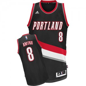 Maillot Swingman Portland Trail Blazers NBA Road Noir - #8 Al-Farouq Aminu - Homme