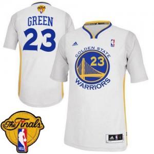 Maillot NBA Swingman Draymond Green #23 Golden State Warriors Alternate 2015 The Finals Patch Blanc - Homme