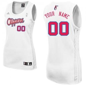 Los Angeles Clippers Personnalisé Adidas Home Blanc Maillot d'équipe de NBA sortie magasin - Swingman pour Femme