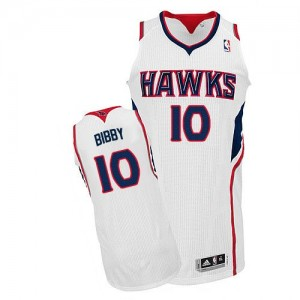 Maillot Authentic Atlanta Hawks NBA Home Blanc - #10 Mike Bibby - Homme