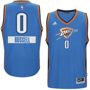 Maillot Swingman Oklahoma City Thunder NBA 2014-15 Christmas Day Bleu - #0 Russell Westbrook - Homme