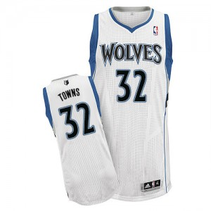 Minnesota Timberwolves Karl-Anthony Towns #32 Home Authentic Maillot d'équipe de NBA - Blanc pour Homme