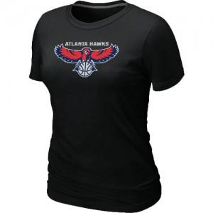 Atlanta Hawks Big & Tall Noir T-Shirts d'équipe de NBA Braderie - pour Femme