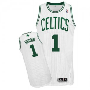 Boston Celtics #1 Adidas Home Blanc Authentic Maillot d'équipe de NBA boutique en ligne - Walter Brown pour Homme