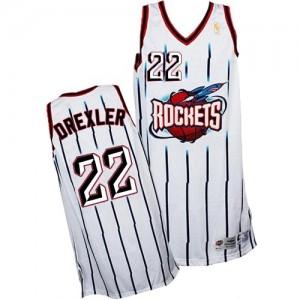 Maillot Swingman Houston Rockets NBA Throwback Blanc - #22 Clyde Drexler - Homme