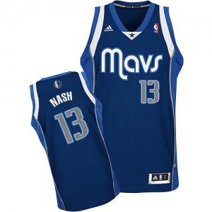 Dallas Mavericks Steve Nash #13 Alternate Swingman Maillot d'équipe de NBA - Bleu marin pour Homme