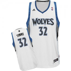 Maillot NBA Swingman Karl-Anthony Towns #32 Minnesota Timberwolves Home Blanc - Homme