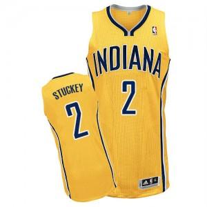 Indiana Pacers #2 Adidas Alternate Or Authentic Maillot d'équipe de NBA pas cher en ligne - Rodney Stuckey pour Homme