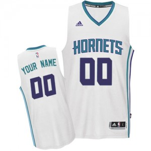 Maillot NBA Authentic Personnalisé Charlotte Hornets Home Blanc - Enfants