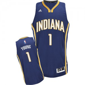 Maillot Swingman Indiana Pacers NBA Road Bleu marin - #1 Joseph Young - Homme