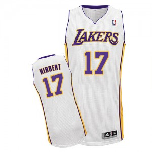 Maillot Authentic Los Angeles Lakers NBA Alternate Blanc - #17 Roy Hibbert - Homme