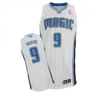 Maillot NBA Orlando Magic #9 Nikola Vucevic Blanc Adidas Authentic Home - Homme