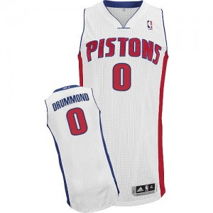 Maillot NBA Detroit Pistons #0 Andre Drummond Blanc Adidas Authentic Home - Homme