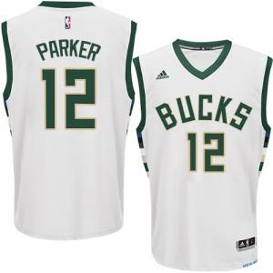 Maillot NBA Authentic Jabari Parker #12 Milwaukee Bucks Home Blanc - Homme