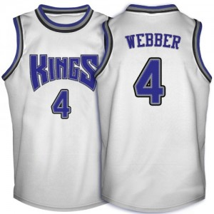 Maillot NBA Swingman Chris Webber #4 Sacramento Kings Throwback Blanc - Homme