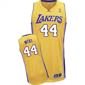 Maillot Authentic Los Angeles Lakers NBA Home Or - #44 Jerry West - Homme