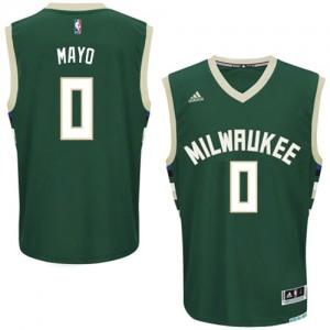 Maillot NBA Milwaukee Bucks #0 O.J. Mayo Vert Adidas Swingman Road - Homme