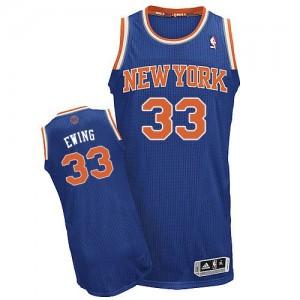 New York Knicks #33 Adidas Road Bleu royal Authentic Maillot d'équipe de NBA sortie magasin - Patrick Ewing pour Homme