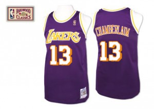 Maillot Mitchell and Ness Violet Throwback Authentic Los Angeles Lakers - Wilt Chamberlain #13 - Homme