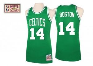 Boston Celtics Mitchell and Ness Bob Cousy #14 Throwback Swingman Maillot d'équipe de NBA - Vert pour Homme