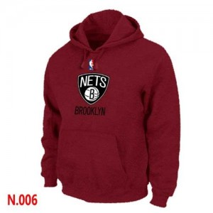 Sweat à capuche NBA Rouge Brooklyn Nets Homme