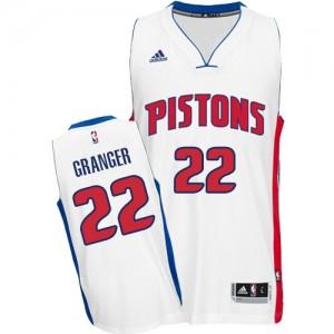 Maillot NBA Blanc Danny Granger #22 Detroit Pistons Home Swingman Homme Adidas