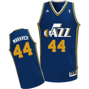 Maillot Swingman Utah Jazz NBA Road Bleu marin - #44 Pete Maravich - Homme