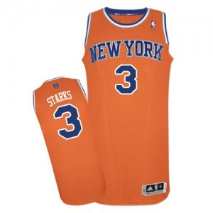 Maillot NBA Authentic John Starks #3 New York Knicks Alternate Orange - Homme