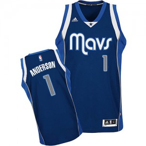 Maillot Adidas Bleu marin Alternate Swingman Dallas Mavericks - Justin Anderson #1 - Homme