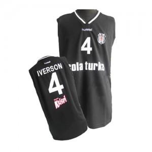 Philadelphia 76ers #4 Adidas Noir Swingman Maillot d'équipe de NBA Expédition rapide - Allen Iverson pour Homme